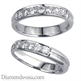 Picture of Grooved Wedding ring, 3.7mm, 0.26 carat diamonds