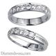 Foto Anillo de bodas acanalado, 3,7 mm, diamantes de 0,26 quilates de