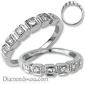 Picture of Princess and Round Diamond stairs ring