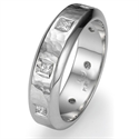Picture of Wedding band with 0.40 carat Princess