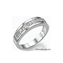 Picture of 1 Carat Princess diamonds wedding or anniversary band