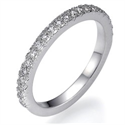 Picture of Pave diamond wedding band 1/4 carat