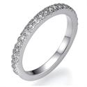 Foto Anillo de boda de diamante Pavé de 1/4 quilate de