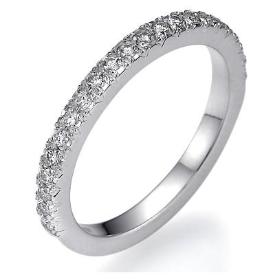Anillo de boda de diamante Pavé de 1/4 quilate