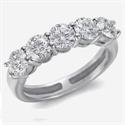 Foto Anillo de 5 diamantes de tres quilates de