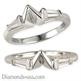 Foto Anillo de bodas con diamantes baguettes cónicos de