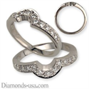 Picture of Wedding ring with 0.25 carat diamonds
