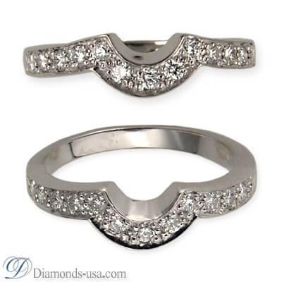 Anillo de bodas con diamantes de 0,25 quilates