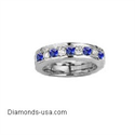Picture of Wedding ring with round Diamonds and Sapphires