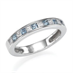 Picture of Wedding ring 8 Diamonds and Aquamarines