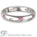 Picture of Wedding ring with 6 Diamonds & 6 Pink Sapphires