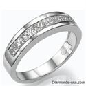 Picture of Wedding ring, 1.15 carats Princess diamonds