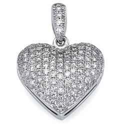 110 micro Pave set diamonds pendant