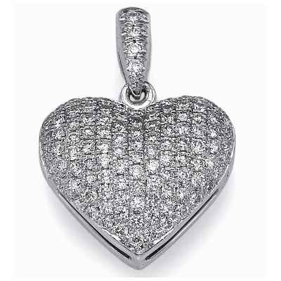 110 micro Pave set diamonds pendant
