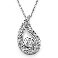Designers pendant with 0.60 carat round diamonds