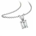 Foto Colgante Solitario para diamantes de corte Esmeralda de