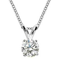 Picture of Solitaire pendant for Round diamonds