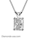 Picture of Pendant for Radiant cut diamond -settings