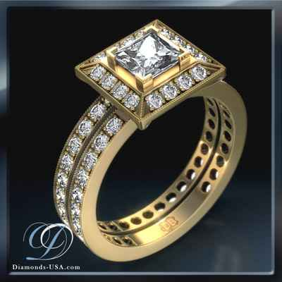 0.84 carat designers bridal engagement ring sets