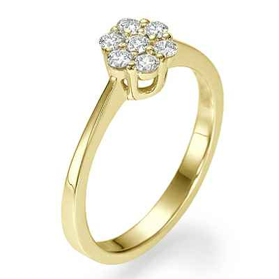 7 diamonds engagement ring