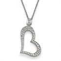 Foto Colgante de diamantes de diseñadores en forma de corazón de