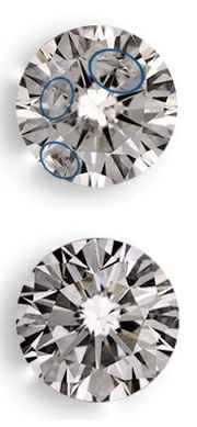 Diamantes con claridad Realzada,antes y despues
