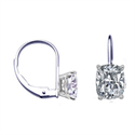 Picture of French Hinged Locked Cushion diamond earrings