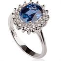 Foto 1.30 quilates, réplica del anillo de la princesa Diana. de