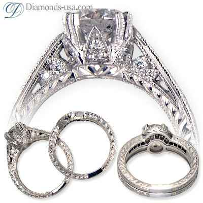 Vintage angagement ring replica-settings