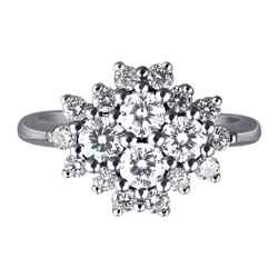 0.96 carat diamonds flower ring