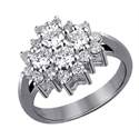 Picture of 0.96 carat diamonds flower ring