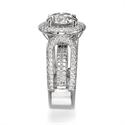 Foto Anillo de cóctel de diamantes y corindón de 1,90 quilates  de