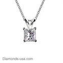 Foto Colgante Solitario de diamantes Princesa  de
