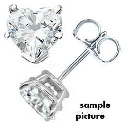 Heart shaped diamonds Stud earrings