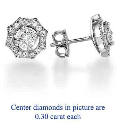 """Pendientes de diamantes """"The Sun"""" (el sol)"""