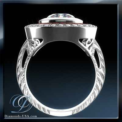 Vitage engagement ring Replica,  red Rubies