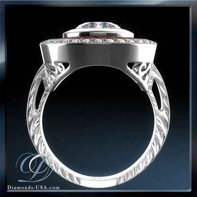 Réplica de anillo de compromiso de estilo Vintage, rubíes rojos