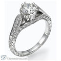 Picture of Vintage designers hand engraved engagement ring