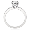 Picture of 0.65 carat side diamonds engagement ring