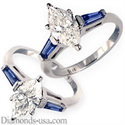 Picture of Accent Baguette Sapphires engagement ring settings