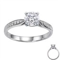 Picture of Cathedral engagement ring with side diamonds
