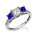 Picture of Crisscross, Three stone diamond ring
