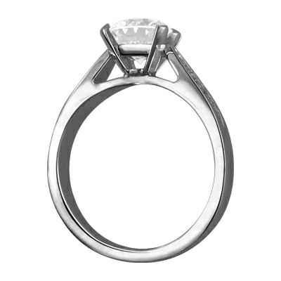 Engastes de anillos de compromiso de diseñadores con diamantes laterales