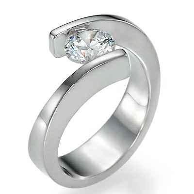 Engastes de tensión contemporáneos para anillos de compromiso