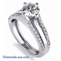 Designers Engagement Ring set with diamonds