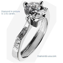 Picture of Diamond Shoulders Engagement Ring