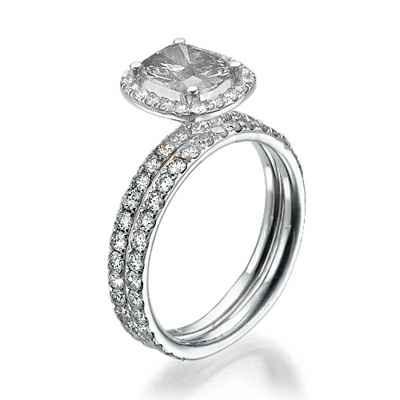 Delicate Halo bridal set