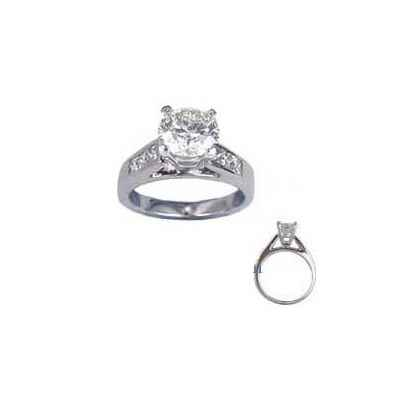Engagement ring settings, 0.5 carat accent Princess