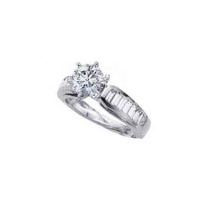 Engastes de anillos de compromiso, Baguettes laterales de 0,95 quilates