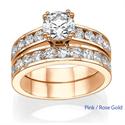 Foto Anillos de compromiso y boda, diamantes laterales de 2,08 ct de